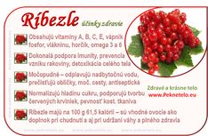Ríbezle – (ne)kyslý a dokonalý detox Fruit Facts, Raw Food Recipes, Healthy Recipes, Healthy Fruits, Food Art, Gardening Tips, Health And Beauty, Detox, Raspberry