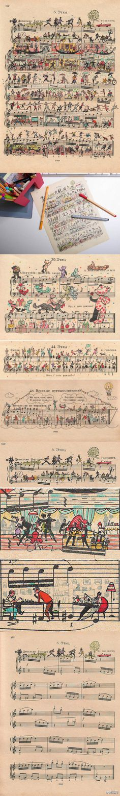 something to do with sheet music