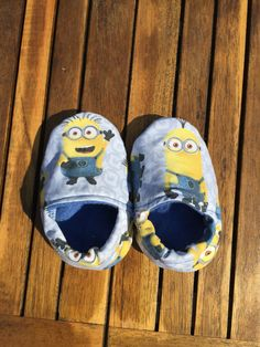 Minion minions Slippers Day care shoes by AbicoyCreations on Etsy
