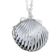 Sea Shell Necklace with Secret Compartment