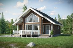 24 ft x 28 ft sq ft Log Cabin Kit 2 Story 3 Bed Wooden Guest House / Home Rest House, House In The Woods, My House, Villa Design, Cabin Design, House Design, Prefab Homes, Log Homes, Montana Homes