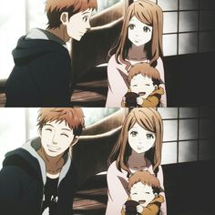 Naho y Suwa #Orange #anime
