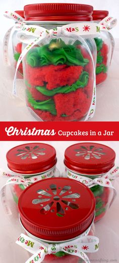 Our colorful Christmas Cupcakes in a Jar are festive, easy to make and delicious. They will wow as either Christmas Desserts for a holiday party or a unique DIY Christmas gift for a friend, neighbor or co-worker. Follow us for more unique Christmas Food ideas.