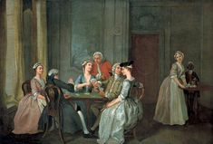 1740-1750 Playing at Quadrille by Francis Hayman