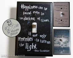 Happiness Can Be Found Quote Jumbo Light Switch by DeeplyDapper, $10.00