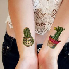 This one is a must have for a cactus lover. I love to fill my house with them and now I can wear one as a tattoo too! The cactus tattoos are also available separate: https://tattoorary.com/products/ca