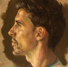 Jean-Christophe Gondouin, Alexandre, huile sur toile.