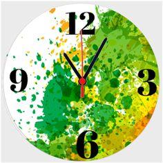 Renkli 27 Cm Duvar Saati Kendin Tasarla - Duvar Saati 27cm
