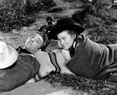 Robert Mitchum and Barbara Hale - WEST OF THE PECOS