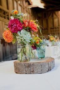 Cortezas de árbol para base centros de mesa