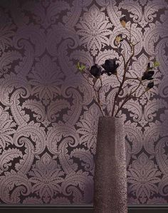 $100.14 Price per roll (per m2 $14.73), Baroque wallpaper, Carrier material: Non-woven wallpaper, Surface: Effect foil, Smooth, Look: Metallic effect, Design: Baroque damask, Basic colour: Black grey, Pattern colour: Silver lustre, Characteristics: Good lightfastness, Low flammability, Strippable, Paste the wall, Wash-resistant