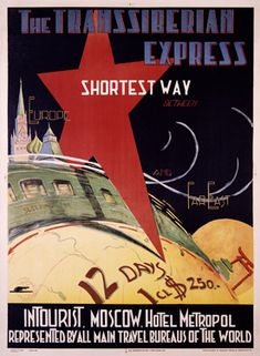 Trans-Siberian Railway poster / Vintage Railroad Posters: Other Countries Gallery 1