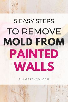 Molds on the wall cause a health threat for the people living around and also ruins the beautiful appearance of the wall. To restore the beauty and health benefits, know how to remove mold from painted walls easily. #DIY #cleaning #homehacks #diytips Remove Mold, How To Remove, How To Apply, Household Cleaning Tips, Cleaning Walls, Concrete Block Walls, Painted Walls, Best Places To Live, Home Improvement Projects