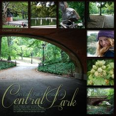 Scrapbook Layout - Travel - Central Park, New York