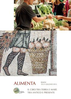 """Graphic image for the exhibition """"Alimenta - food between land and sea, ancient and present time""""."""