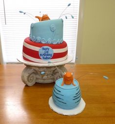 Dr Seuss 1st Birthday Cake - Smash Cake