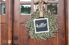 Love this wreath with the Chalkboard Frame