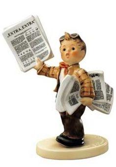 Hummel actueel | Hummel Zeitungsjunge / Extra Extra | Peter's Hummel Home | De grootste collectie beeldjes | Hummel Disney Goebel Rosina Wac...