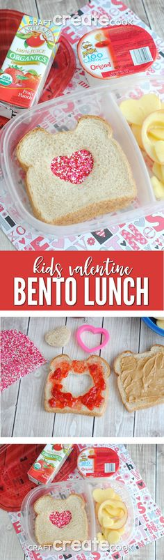 Surprise your children with an easy Kids Valentine Bento Lunch! via @CraftCreatCook1