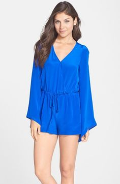 Charlie Jade Long Sleeve Surplice Romper available at #Nordstrom