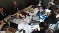 La redazione di Rai Expo al lavoro a Firenze per #italia2015 #raiexpo #expoidee #expo2015 #italia #worldfair #firenze