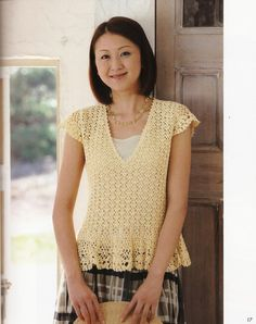 Light yellow top with a perfect Japanese diagram