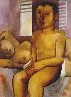 Two naked(1930) - Oil on Canvas - Lasar Segall.