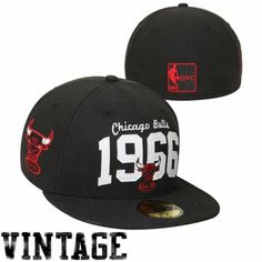 New Era Chicago Bulls Hardwood Classic Traditions Founded 59FIFTY Fitted Hat - Black