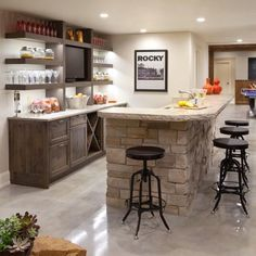 Decoration basement kitchens ideas photo 5 of 9 changes to the kitchenette ordinary kitchen bar small apartment image best s Basement Makeover, Basement Renovations, Home Remodeling, Basement Bar Designs, Home Bar Designs, Basement Ideas, Rustic Basement, Modern Basement, Basement Bars