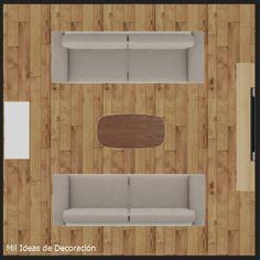 15 formas de distribuir los muebles en un salón cuadrado Living Room, Kitchen, Houses, Home, Shapes, Cooking, Living Rooms, Drawing Rooms, Family Room