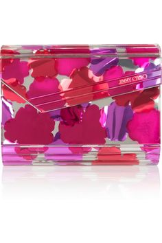 Jimmy Choo | The Candy mirrored acrylic clutch | NET-A-PORTER.COM
