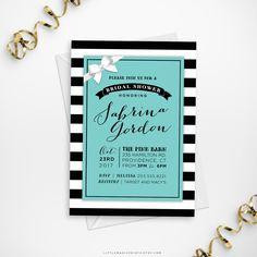 Printable Tiffany's Bridal Shower Invitation, Printable Breakfast at Tiffany's Bridal Shower Invitation, DIY Tiffany Blue Shower Invite #babyshowerideas4u #birthdayparty #babyshowerdecorations #bridalshower #bridalshowerideas #babyshowergames #bridalshowergame #bridalshowerfavors #bridalshowercakes #babyshowerfavors #babyshowercakes