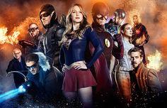 Arrow, Flash e a Supergirl falam sobre o grande encontro deles na TV