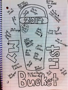 The Lost Sock : Art Class JournalingBucket list  Students draw a 3d bucket and fill it up creatively with at least 10 things they want to do before they graduate and get too old to be cool!