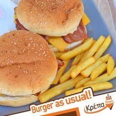-Πάλι Double Burger Bacon? 🍔 -Αφού είναι νόστιμο!  ☎️ 2310.632180 💻 www.krepatown.gr 📍 Μιχαήλ Καραολή 20, Συκιές  #krepatown #Συκιές #Νεάπολη #Πολίχνη #ourplace #delivery #burgertime