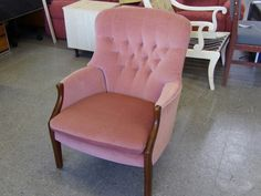 Parker knoll button back armchair, two available (model PK 1022-27)--------------- £45 each (pc539)