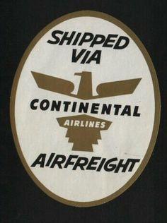 Continental Airlines Vintage Sticker