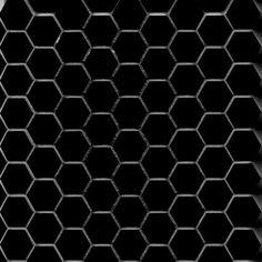 Subway Ceramics Black Hex Tile