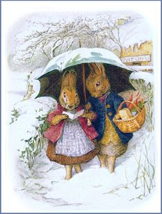 Beatrix Potter - Bunnies in Winter