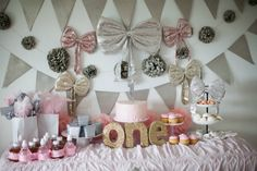 Pretty Pink Birthday - Lots of pretty pastel pink dripping with gold and silver…