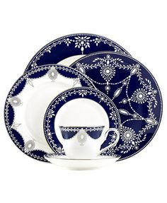 Marchesa by Lenox Dinnerware, Empire Indigo Collection | macys.com