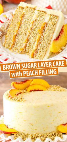 Layer Cake Recipes, Best Cake Recipes, Cupcake Recipes, Baking Recipes, Sweet Recipes, Dessert Recipes, One Layer Cakes, Cake Filling Recipes, Summer Cake Recipes