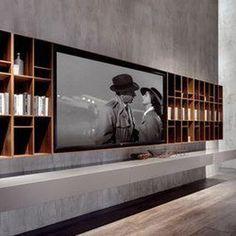 33 moderne TV-Wandpaneel-Designs und Modelle 33 Modern TV Wall Panel Designs and Models – FresHouse Tv Wall Panel, Wall Panel Design, Tv Wall Design, Wall Tv, Tv Wall With Shelves, Tv Design, Long Walls, Grey Walls, Panneau Mural Tv