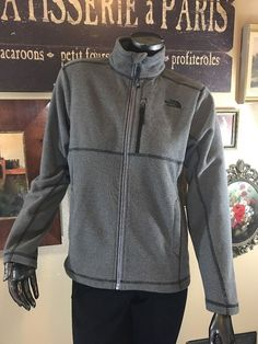The North Face Boys Full Zip Large 14/16 Cap Rock A2RCB Graphite Grey Jacket  | eBay