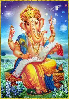 Jai Ganesha, Slokas, mantras, for more details downlaod Pureprayer App Arte Shiva, Shiva Art, Ganesha Art, Shiva Shakti, Hindu Art, Ganesha Pictures, Ganesh Images, Orisha, Durga