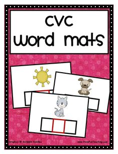 CVC Word Mats Activity: Place the letter tiles on the picture cards to create CVC Words. Then, spell each CVC Word by looking at the pictures. Information: Phonics, CVC, Word Patterns, CVC Words #Learnphonics