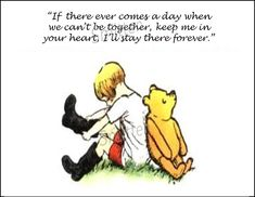 Winne the Pooh and Christopher Robin Quote 5x7 Art Print. $6.00, via Etsy.