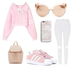 """""""Untitled #4"""" by alyshiakemp ❤ liked on Polyvore featuring adidas Originals, Topshop, Linda Farrow and Mansur Gavriel"""