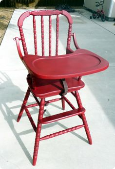 I HAVE to find a Jenny Lind high chair to paint. I would LOVE to have one for Lydia.