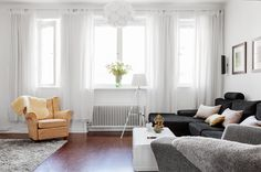 Light filled Swedish flat